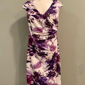 ⭐️ Adrianna Papell Purple Print Dress